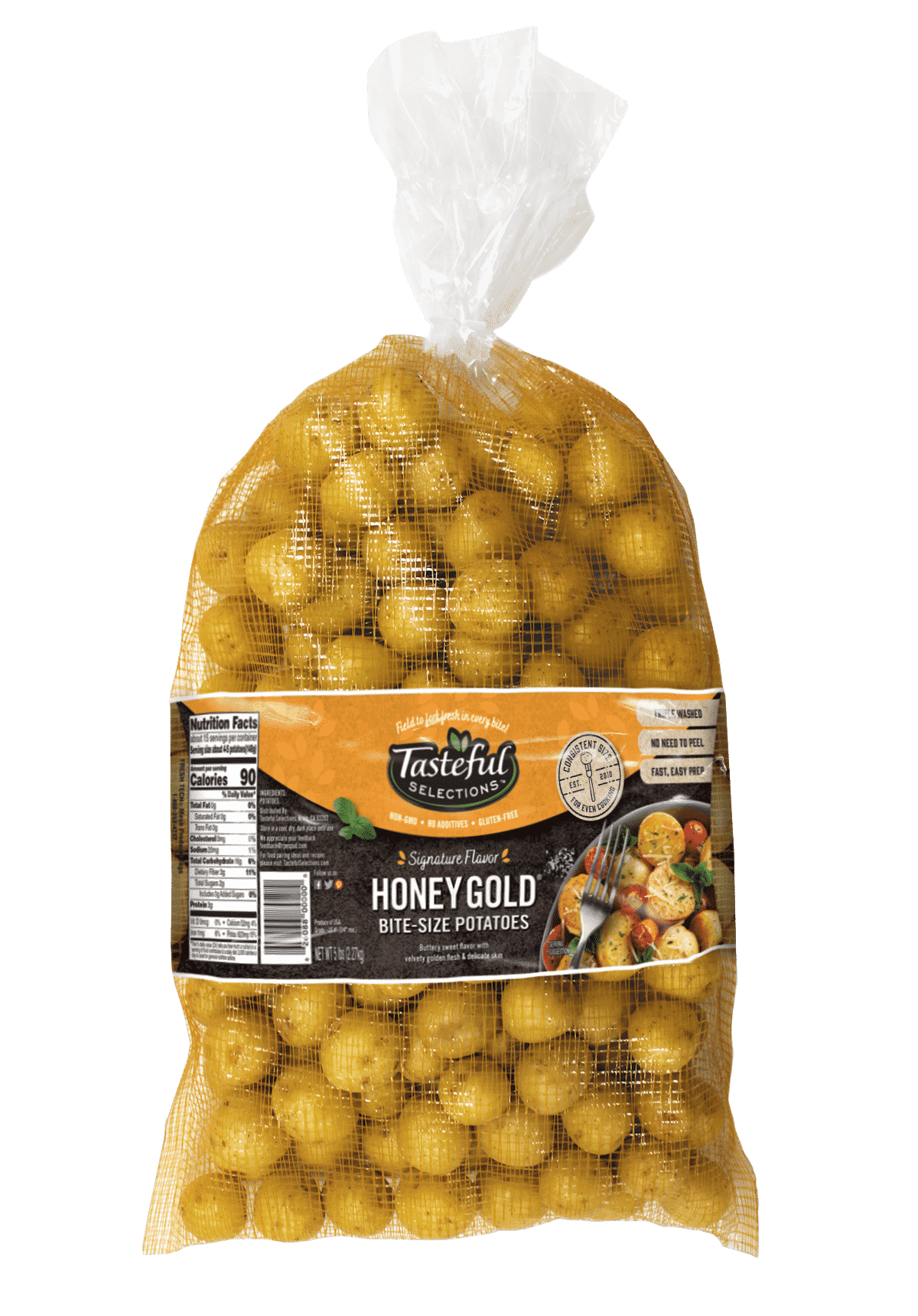 Tasteful Selections Honey Gold Bite-Size Potatoes Mesh Bellyband