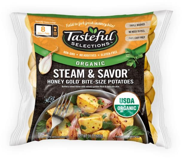 Tasteful Selections Organic Steam & Savor Honey Gold Bite-Size Potatoes