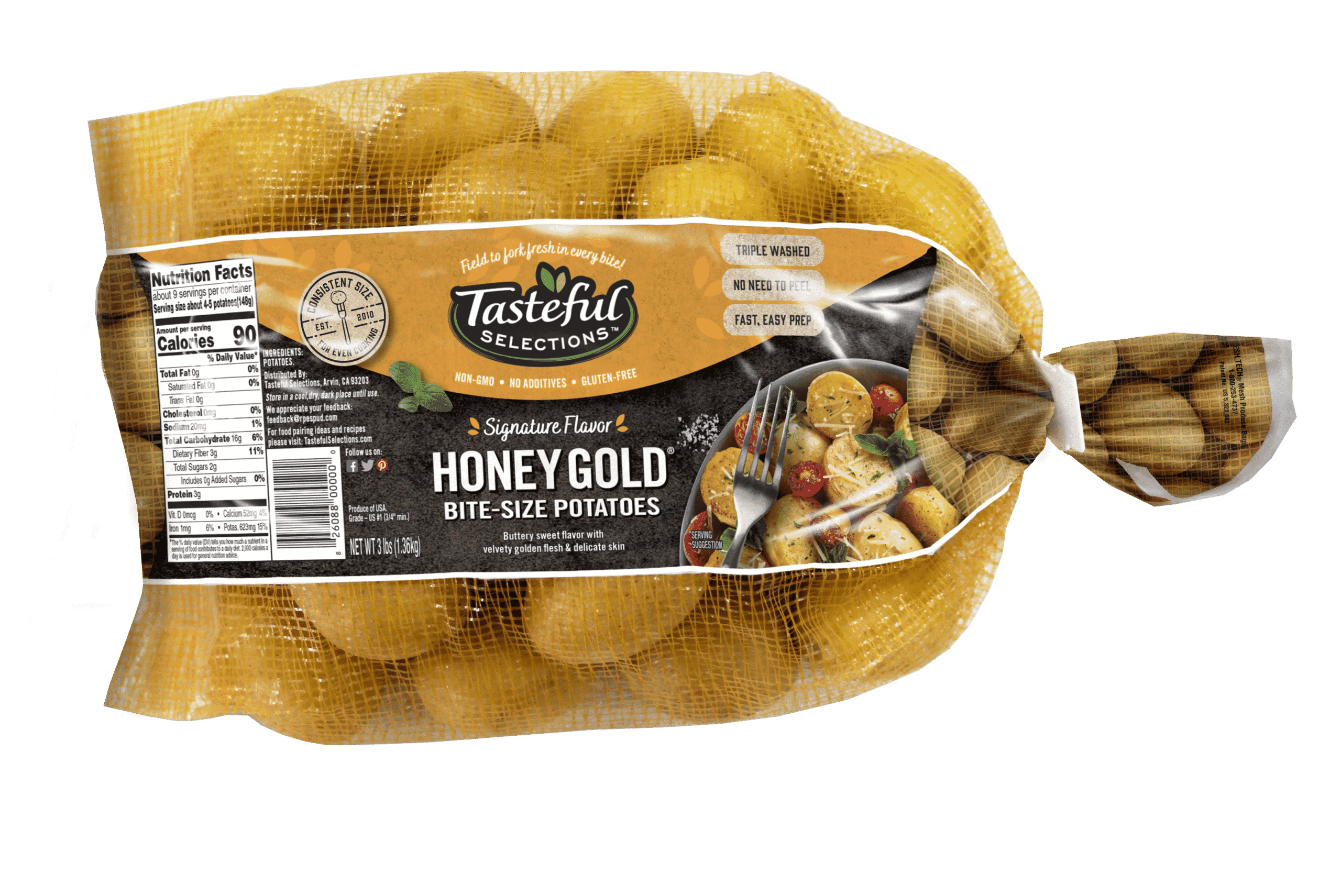 Tasteful Selections Honey Gold Bite-Size Potatoes Vertical Mesh