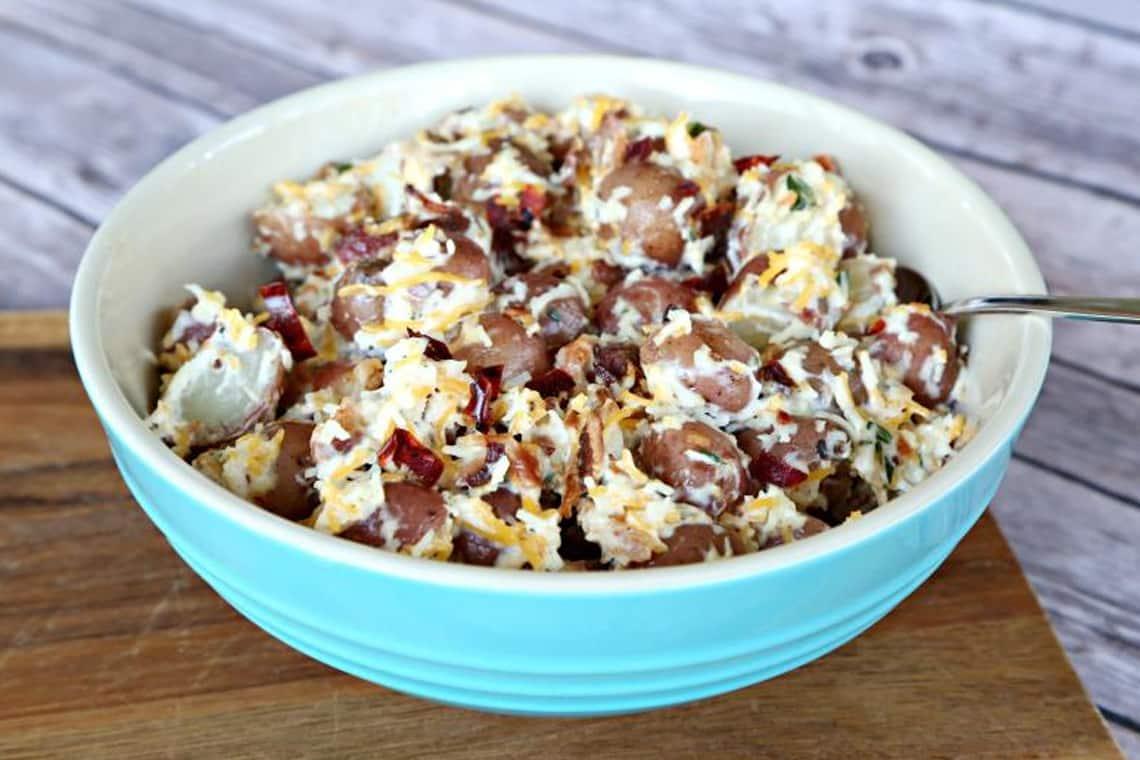 Bacon and cheddar potato salad