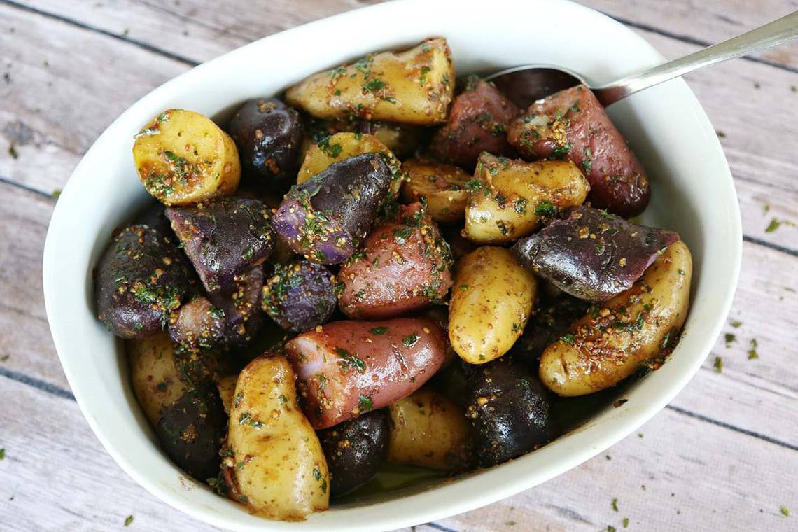 Balsamic and Herb Fingerling Potatoes