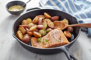 Cast-Iron Spring Salmon & Potato Supper
