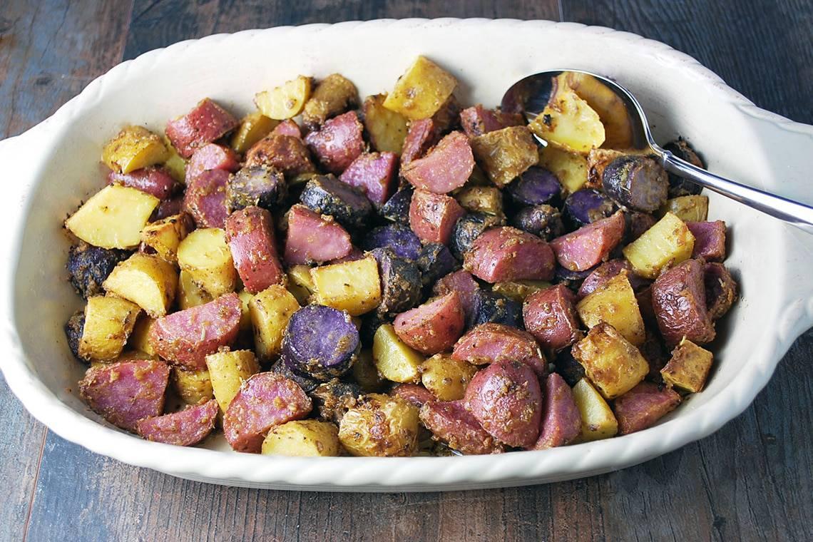 Dijon Herb Roasted Poatoes