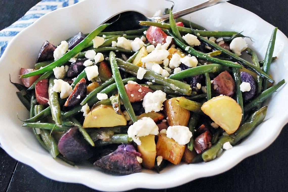 Fingerling Potato Salad with Lemon Balsamic Vinaigrette
