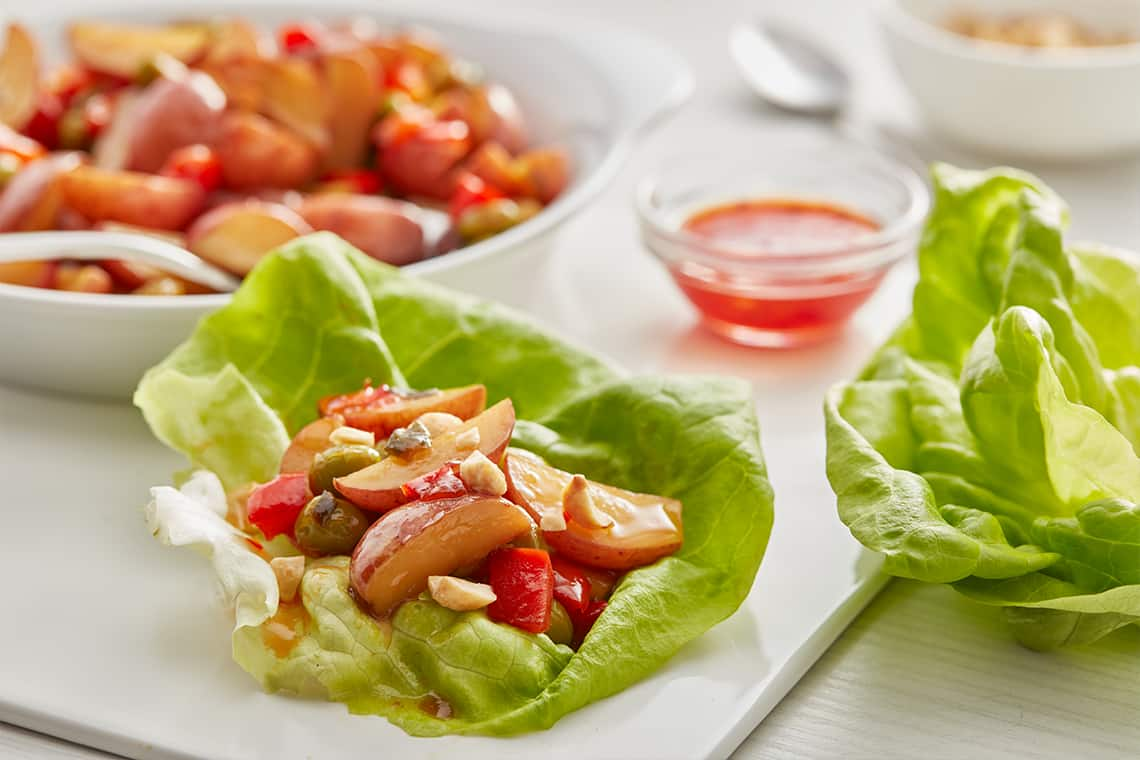Korean Potato Lettuce Wraps