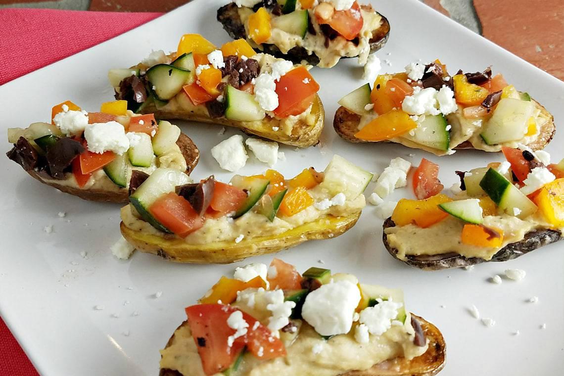 Mediterranean Potato Bruschetta