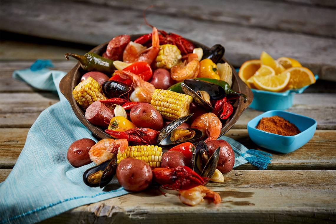Spicy Cajun Seafood Boil