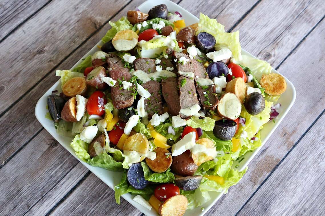 Steak and Potato Cowboy Salad