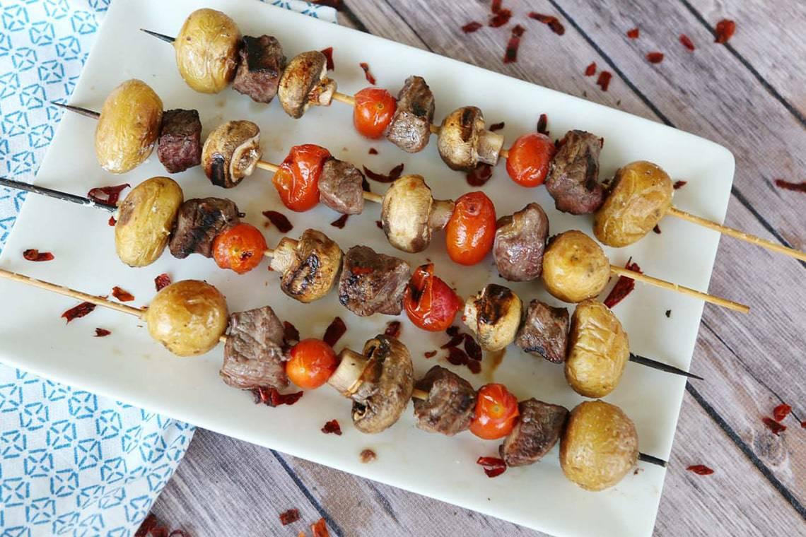 Steak and Potato Skewers