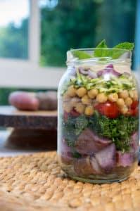 Mason Jar Mediterranean Garden Salad