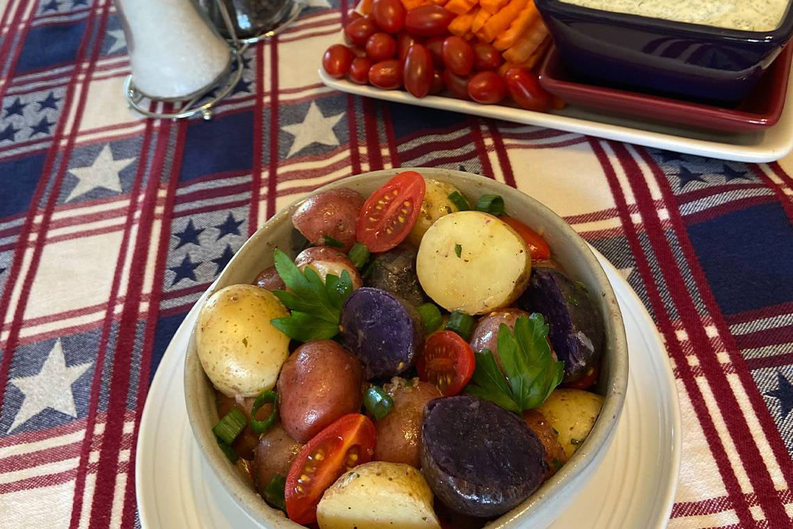 American Blend Red White & Blue Potato Salad
