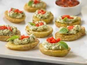 Potato Crostinis with Pesto (2)