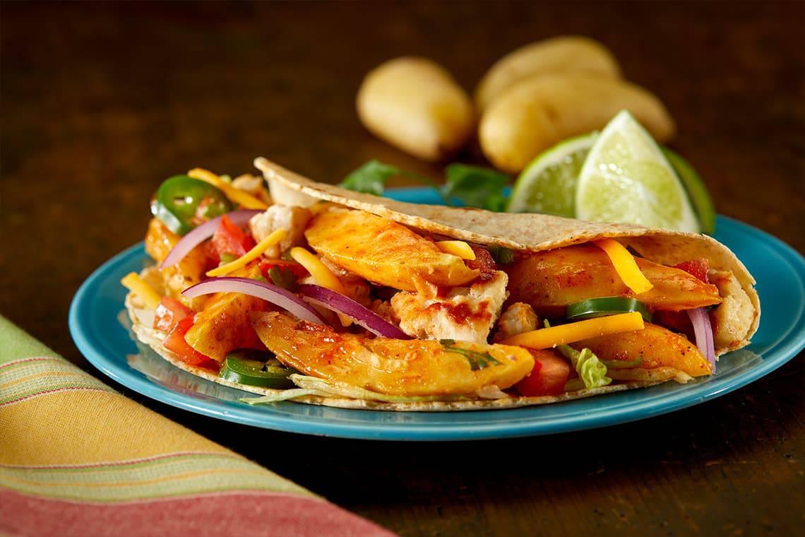 Potato Turkey Tacos