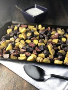 Roasted Fingerling Potatoes with Fresh Chive Dressing (2)