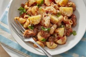 "Saucy Macaroni & Potato ""Meatballs"" (3)"