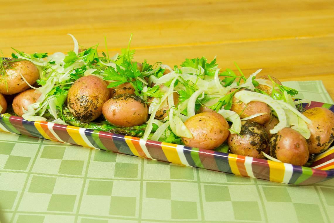 Sensational Charred Potatoes and Asparagus
