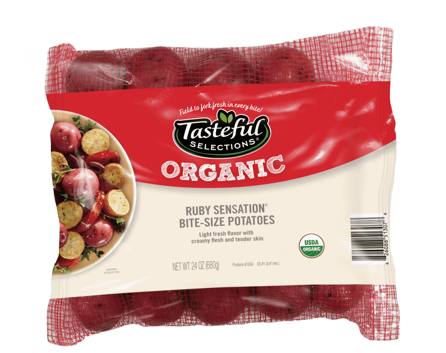 Tasteful Selections Organic Ruby Sensation Bite-Size Potatoes Mesh Pillow Pack