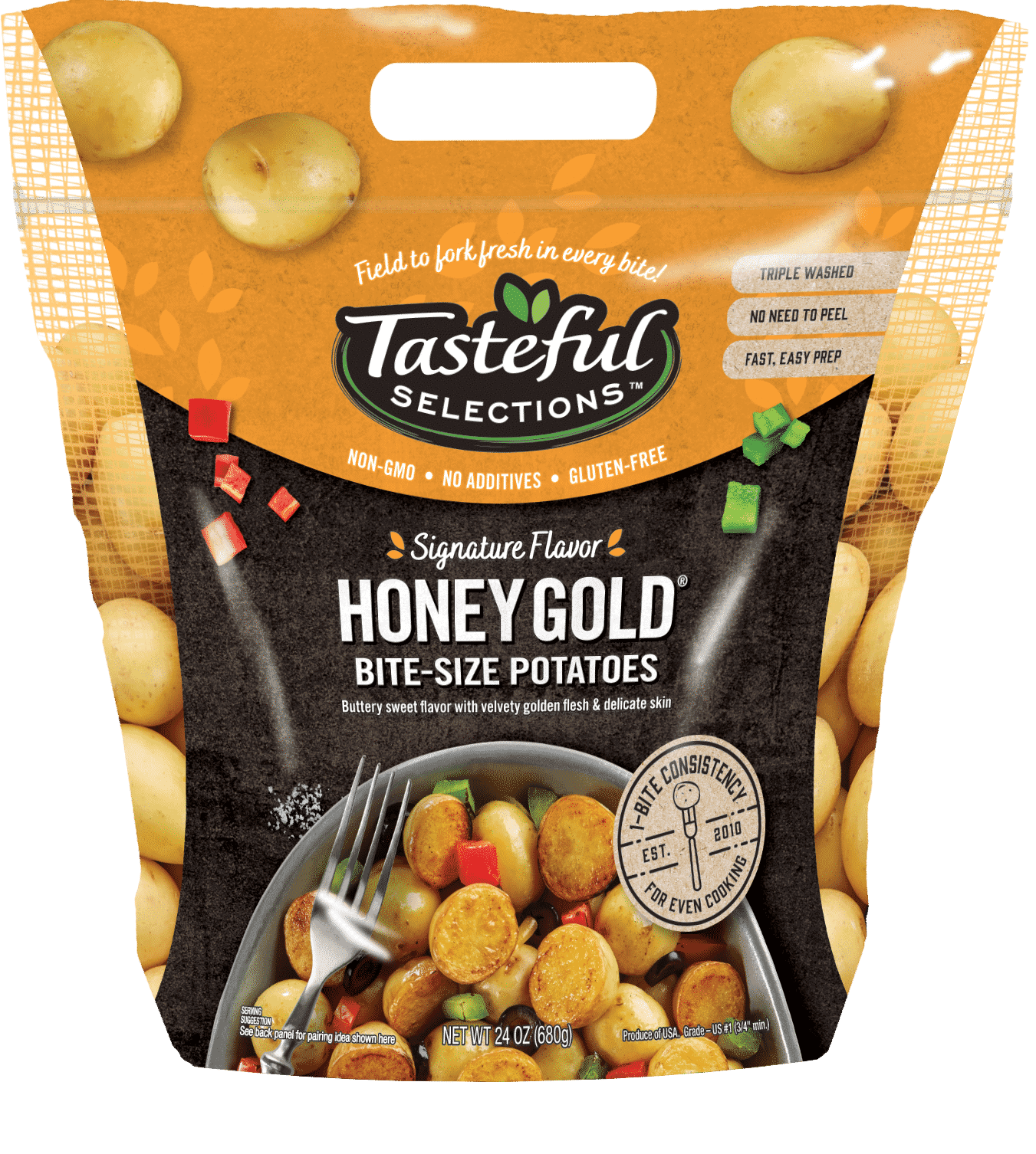 Tasteful Selections Honey Gold Bite-Size Potatoes Gusseted Bag 1-Bite