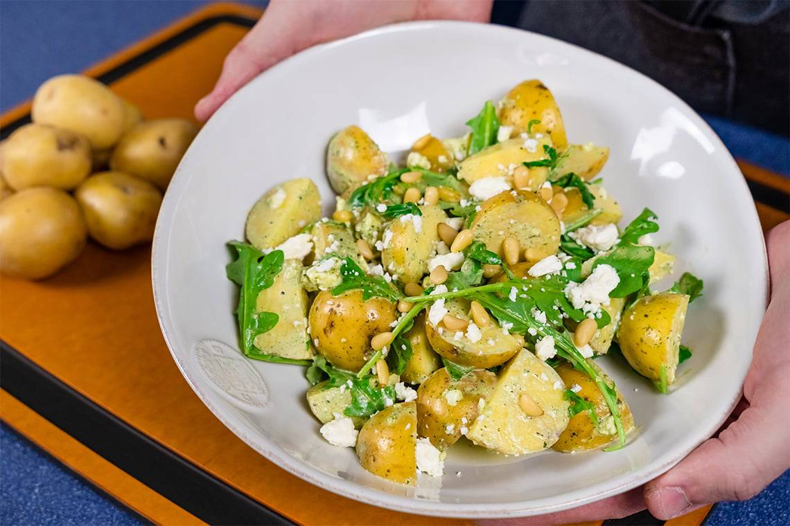 Honey Gold Green Goddess Potatoes
