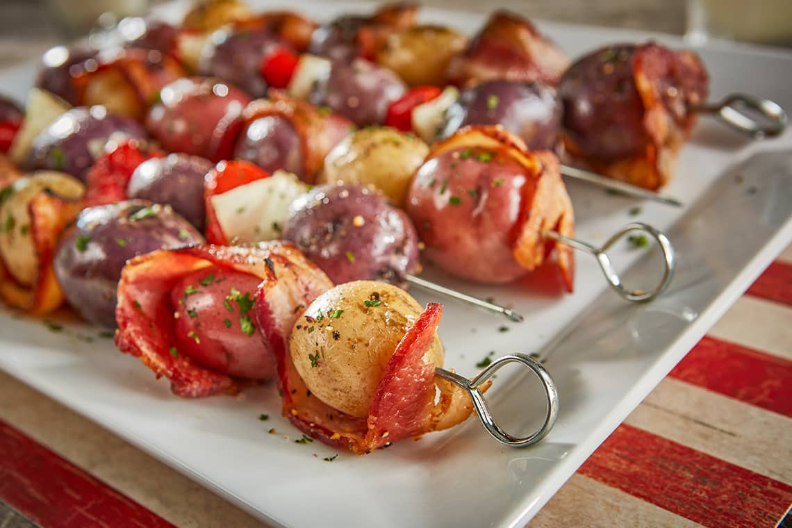 Bacon & Potato Skewers